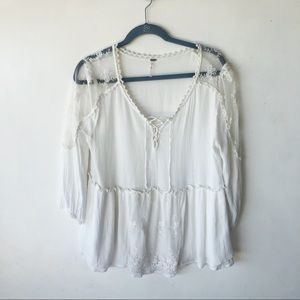 Free People boho blouse sz medium